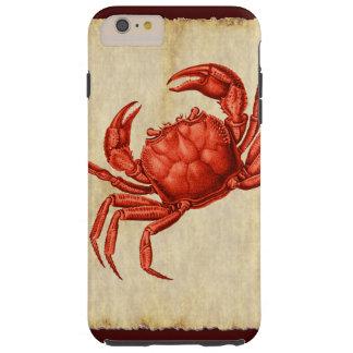 Vintage Red Crab Design Tough iPhone 6 Plus Case