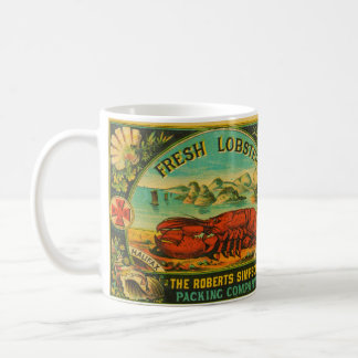 Vintage Red Cross Lobster Mug