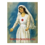 Vintage Red Cross Nurse Poster