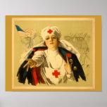 Vintage Red Cross Nurse Print