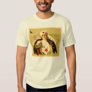 Vintage Red Cross Nurse Tee Shirt