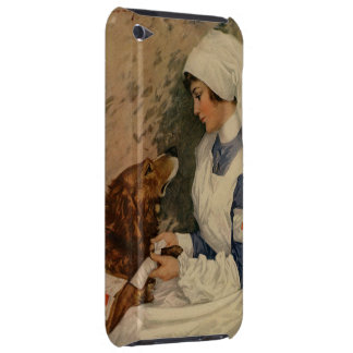 Vintage Red Cross Nurse with Golden Retriever Barely There iPod Cover
