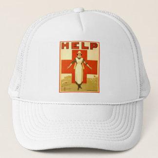 Vintage Red Cross Nurse World War 1 Poster Trucker Hat