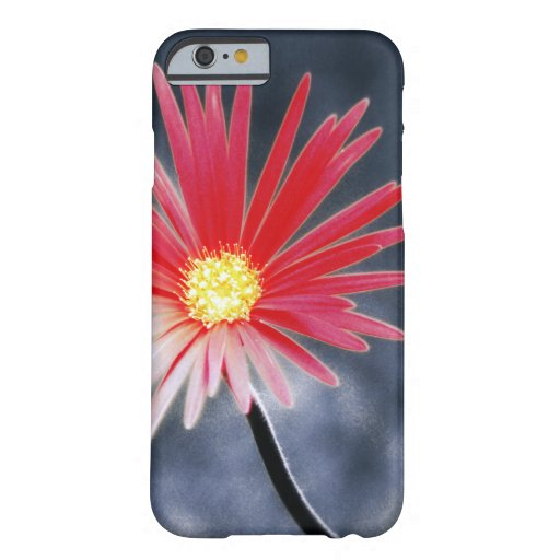 Vintage Red Daisy Flowers Barely There iPhone 6 Case