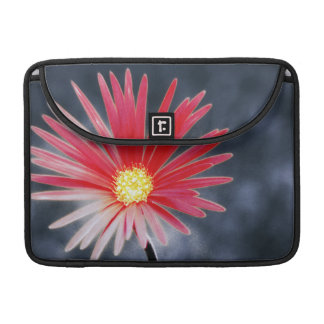 Vintage Red Daisy Flowers Sleeve For MacBooks