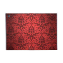 Vintage Red Damask Wallpaper Cover For iPad Mini
