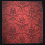 "Vintage Red Damask Wallpaper Napkin<br><div class=""desc"">Vintage Red Damask Wallpaper</div>"