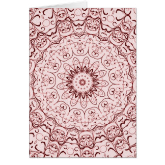 Vintage Red Doily Card