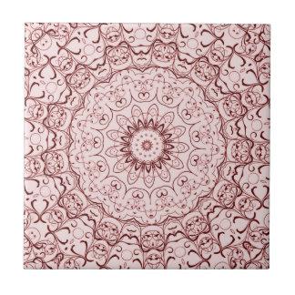 Vintage Red Doily Ceramic Tile