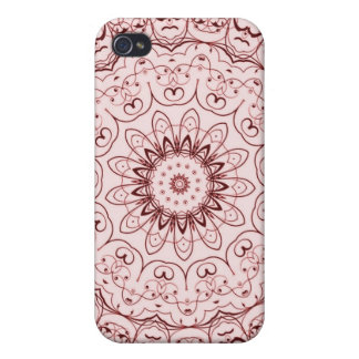 Vintage Red Doily iPhone 4/4S Case