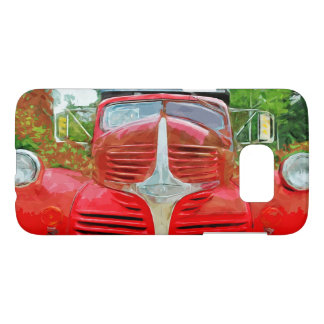 Vintage Red Dump Truck Abstract Samsung Galaxy S7 Case
