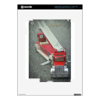 Vintage red fire truck toy iPad 3 skins