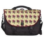 Vintage Red Floral Bags For Laptop