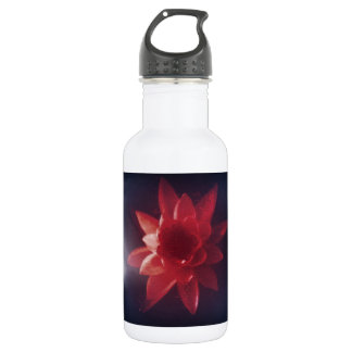 Vintage Red Floral Painting Stainless Steel Water Bottle