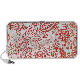 Vintage Red Floral Portable Speaker
