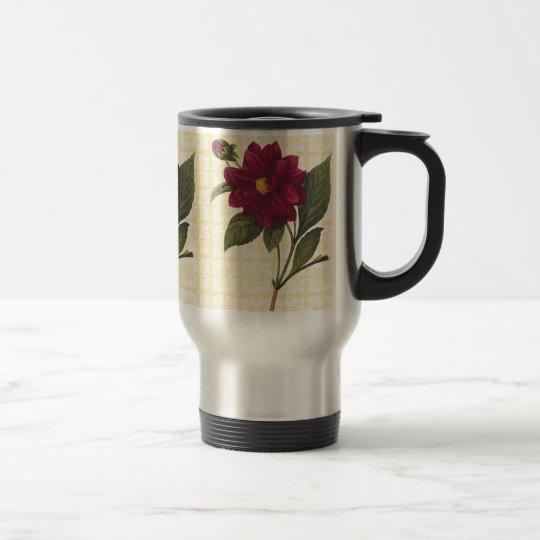 Vintage Red Floral Travel Mug