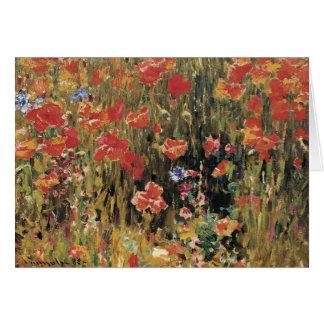 Vintage Red Flowers, Poppies by Robert Vonnoh Card