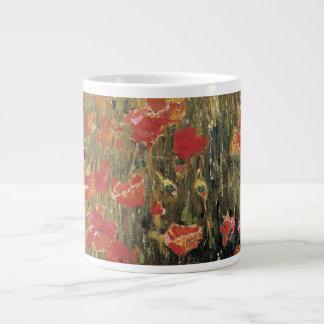 Vintage Red Flowers, Poppies by Robert Vonnoh Large Coffee Mug