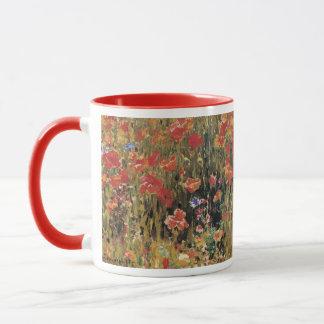 Vintage Red Flowers, Poppies by Robert Vonnoh Mug