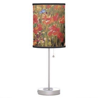 Vintage Red Flowers, Poppies by Robert Vonnoh Table Lamp