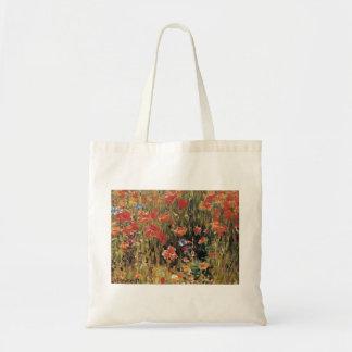 Vintage Red Flowers, Poppies by Robert Vonnoh Tote Bag