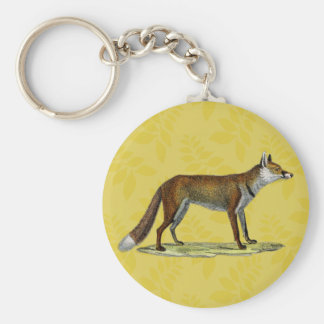 Vintage Red Fox Keychain