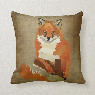 Vintage Red Fox Pillow