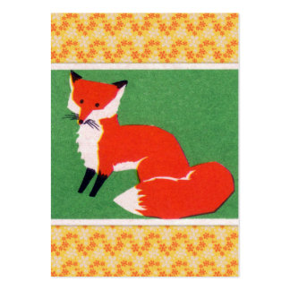 Vintage Red Fox Print Large Business Card
