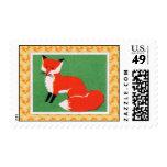 Vintage Red Fox Print Postage