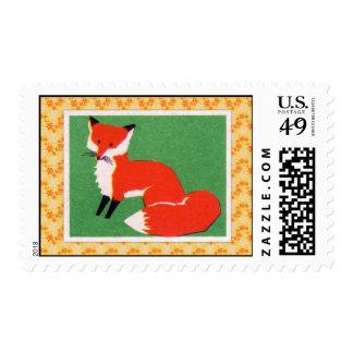 Vintage Red Fox Print Stamps