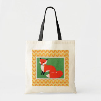 Vintage Red Fox Print Tote Bag