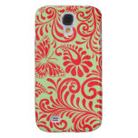 Vintage Red Galaxy S4 Cases