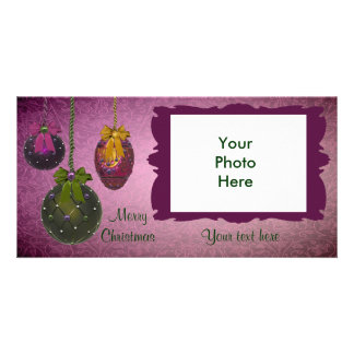Vintage Red Green Photo Christmas Cards
