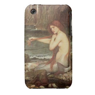 VINTAGE RED HAIRED MERMAID PORTRAIT iPhone 3 Case-Mate CASES