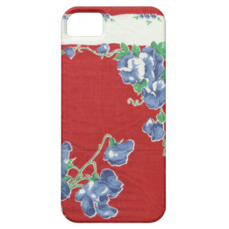 Vintage Red Hanky with Sweet Peas iPhone Case