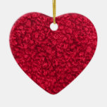 Vintage Red Heart Ornament