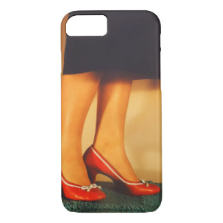 Vintage Red High Heel Shoes iPhone 8/7 Case
