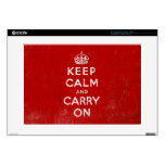 Vintage Red Keep Calm and Carry On Laptop Skin