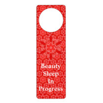 Vintage Red Lace Beauty Sleep Door Hanger