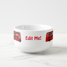Vintage Red London Bus Soup Mug