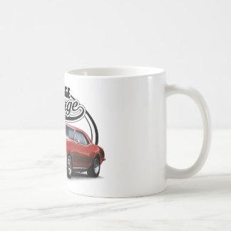 Vintage Red Muscle Car Coffee Mug