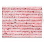 Vintage Red Musical Sheet Card