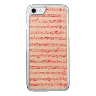 Vintage Red Musical Sheet Carved iPhone 7 Case