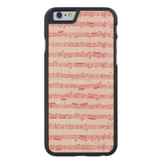 Vintage Red Musical Sheet Carved Maple iPhone 6 Slim Case