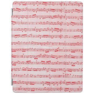 Vintage Red Musical Sheet iPad Cover