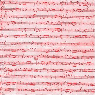 Vintage Red Musical Sheet Photo Sculpture