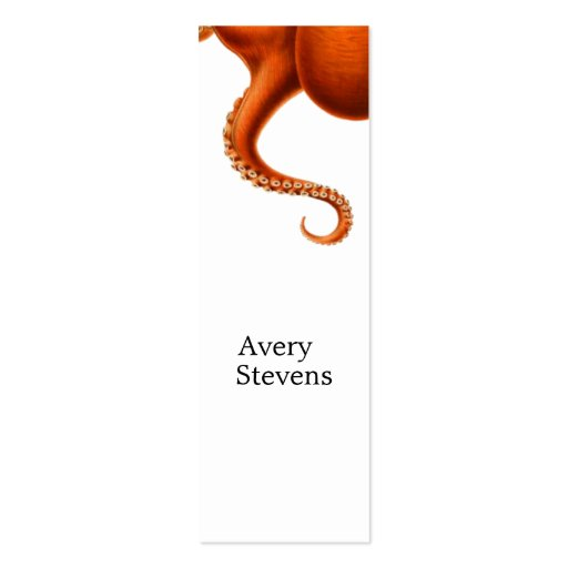 Vintage Red Octopus Marine Biology Nautical No. 2 Business Card
