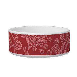 Vintage Red Paisley Damask Design Bowl