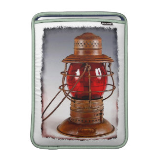 Vintage Red Railroad Lantern MacBook Sleeve