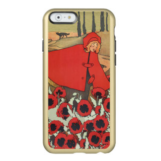 Vintage Red Riding Hood Wolf Poppy Flowers Incipio Feather Shine iPhone 6 Case